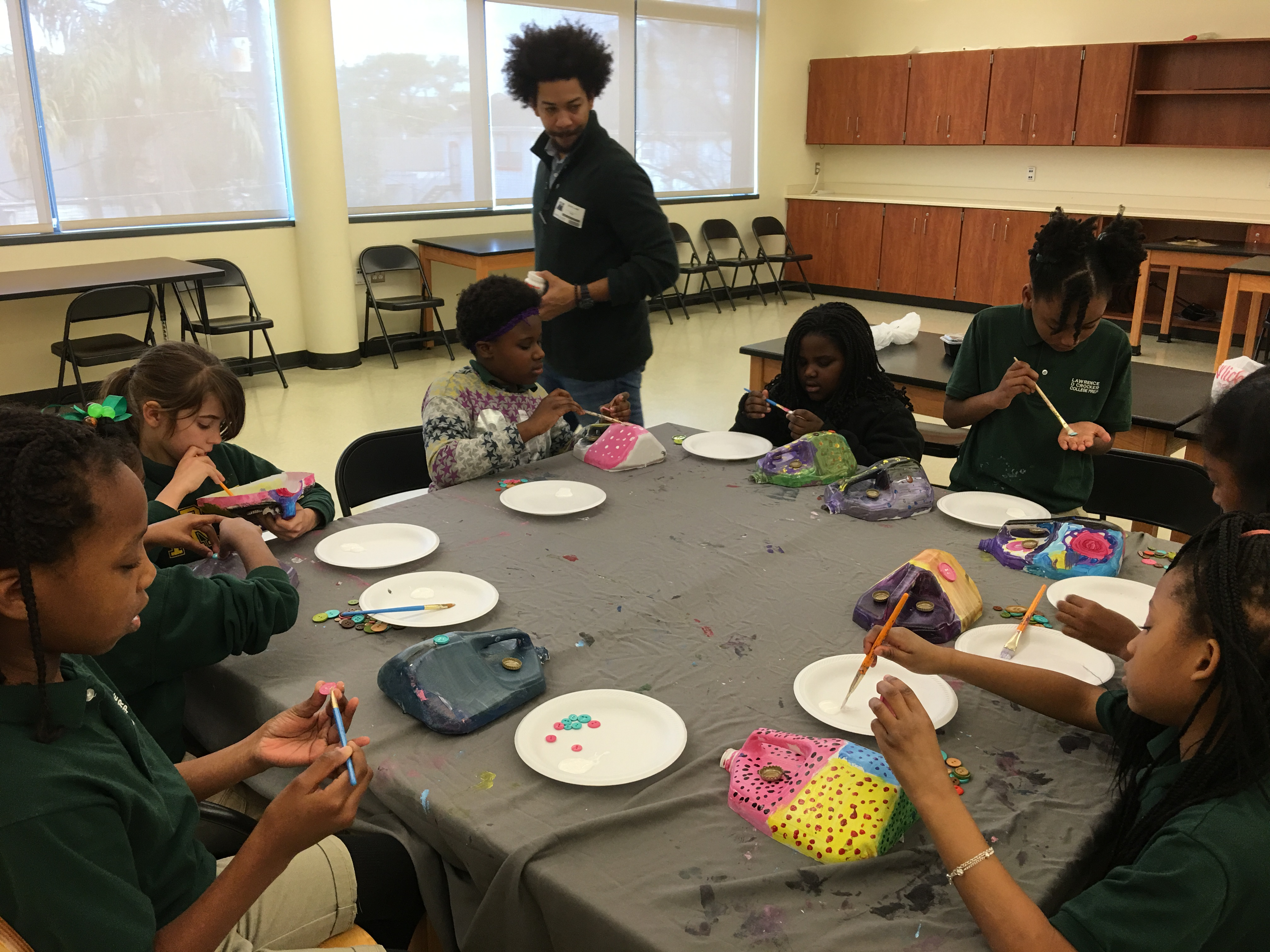 Students explore their emotions by taking part in Art Voice at Crocker College Prep, one of six New Orleans schools in the Trauma-Informed Collaborative.